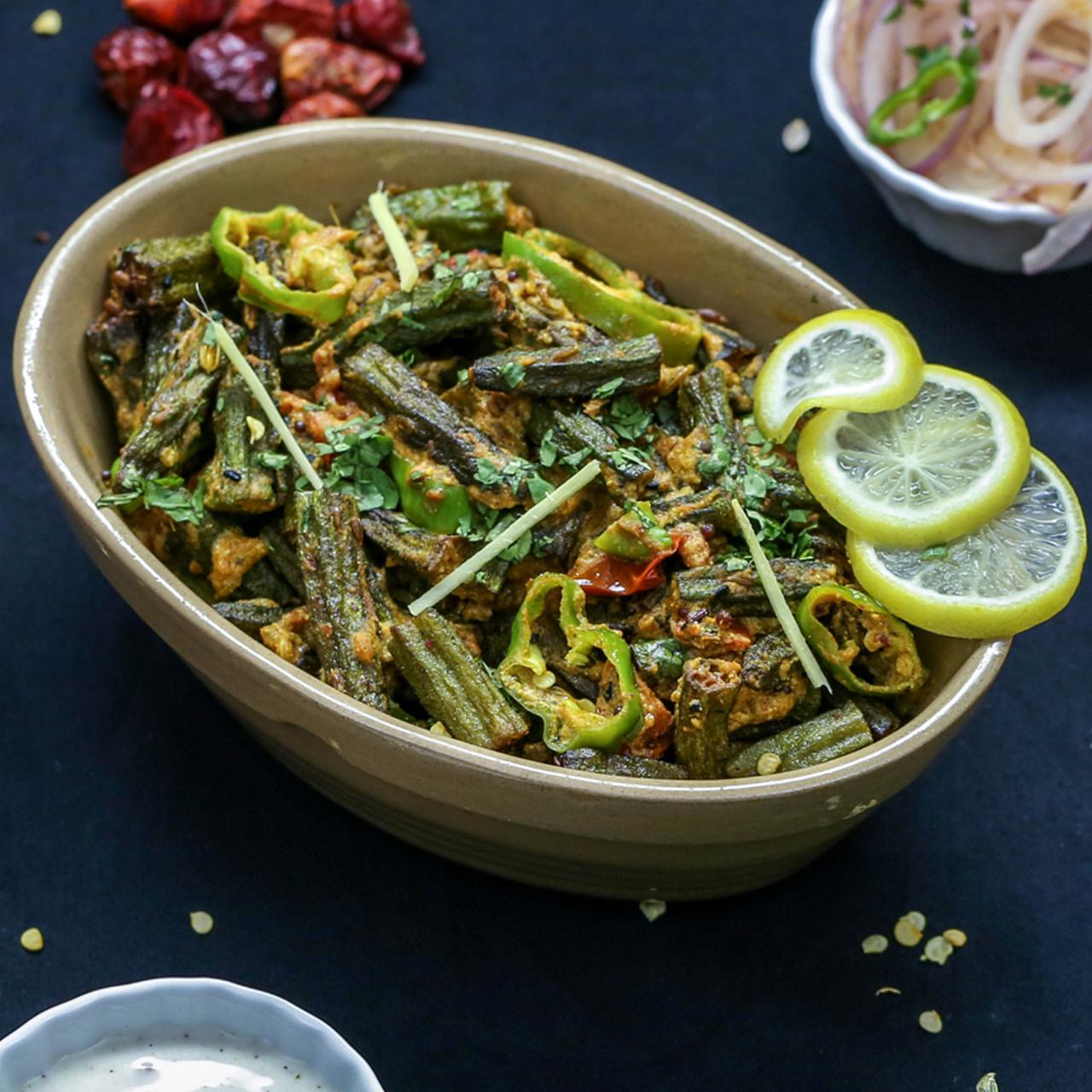 Achari Bhindi Fry