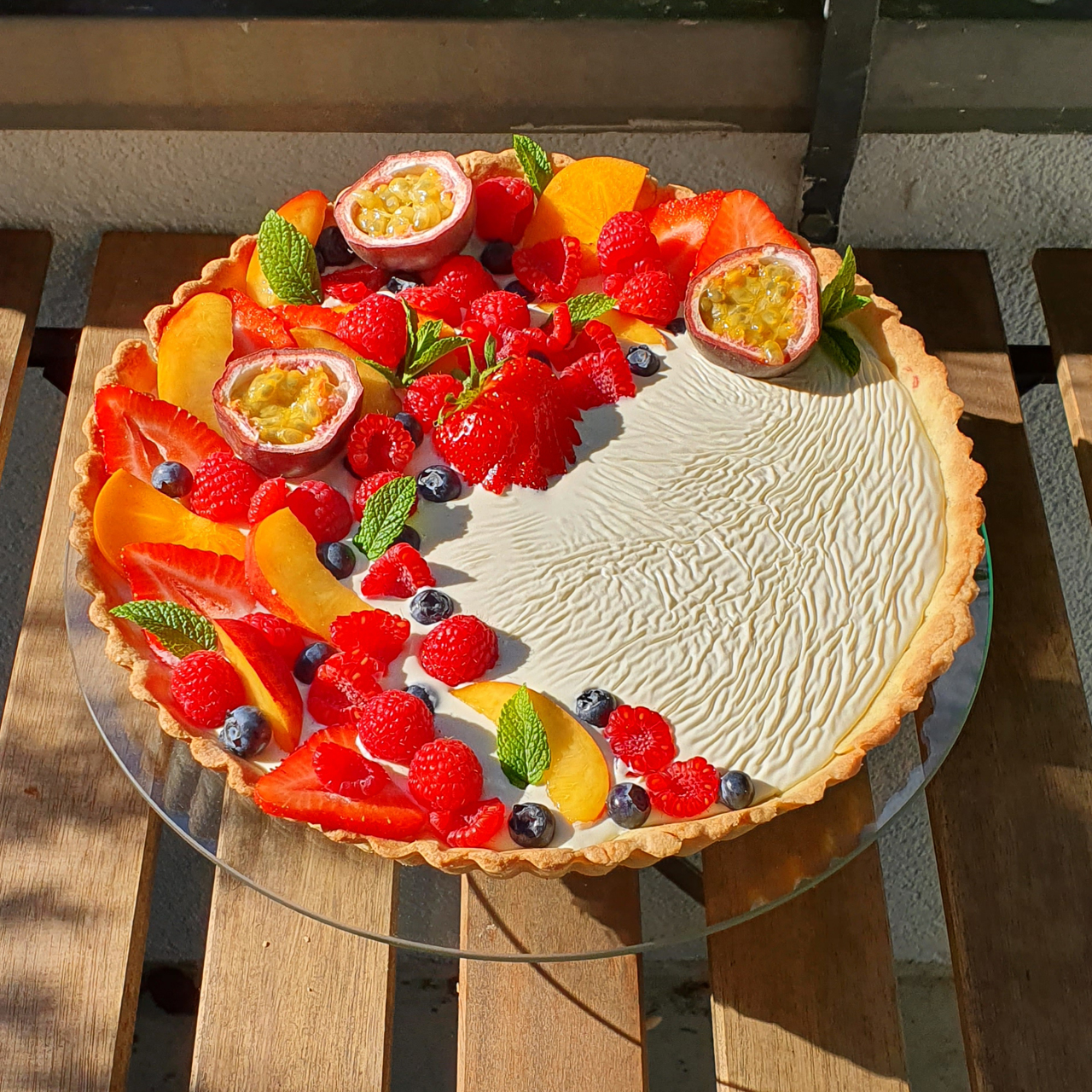 White Chocolate Raspberry Tarte