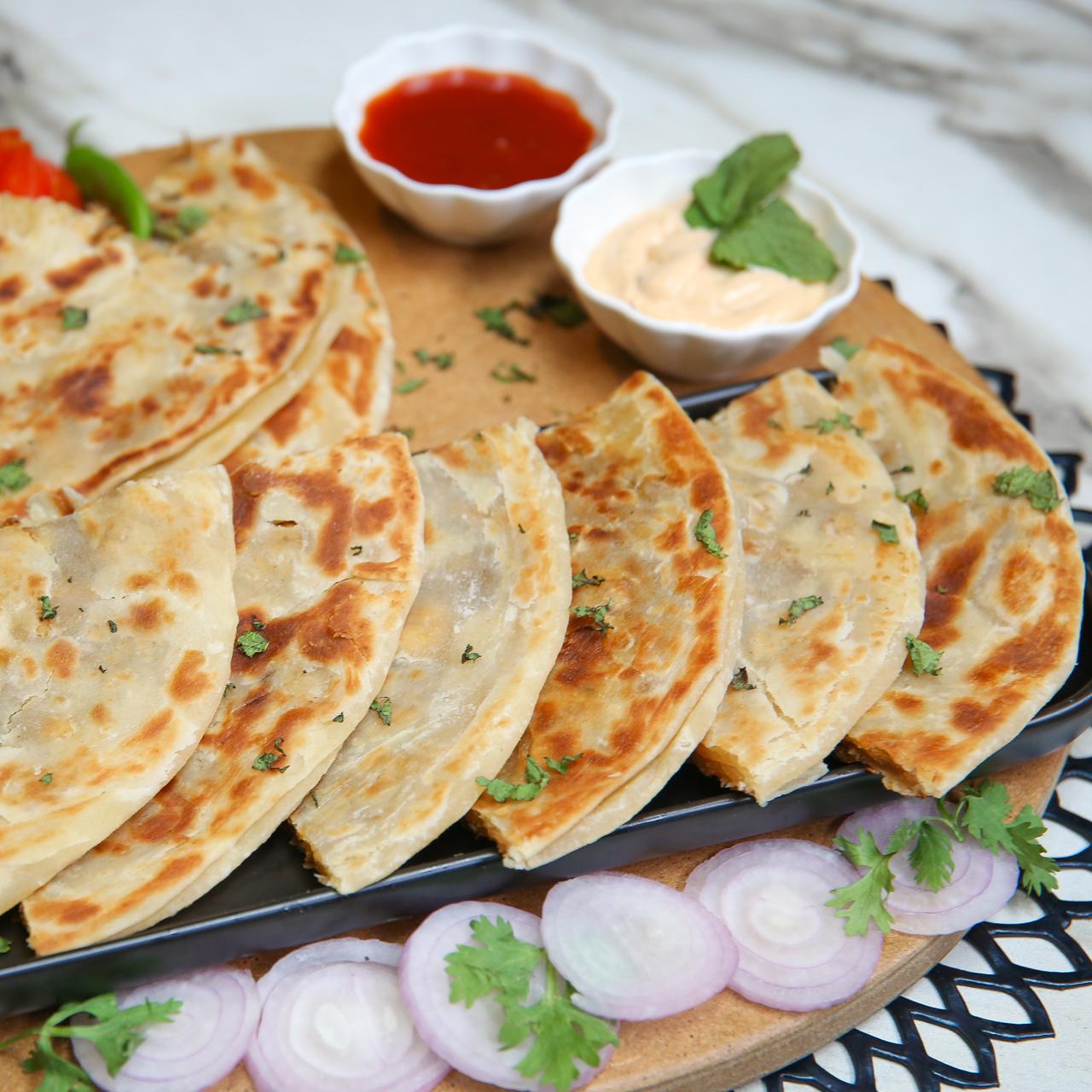 Spicy Chicken Paratha