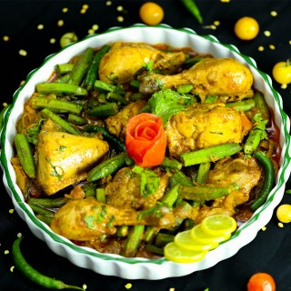 Bhindi Chicken Dry