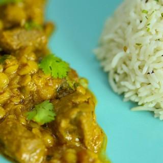 دال گوشت اور چاول