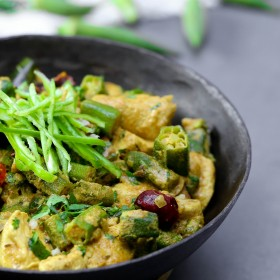 Bhindi Chicken